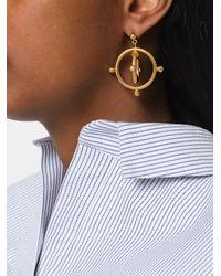 Marni - Metallic Double Circle Drop Earrings - Lyst