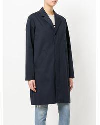 A.P.C. - Blue Long Blazer Coat - Lyst