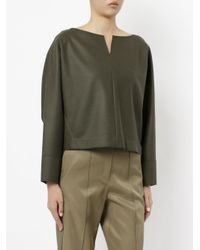 Des Pres - Green Panelled V-neck Jumper - Lyst