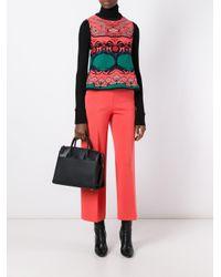 M Missoni - Red Patterned Knit Vest - Lyst