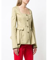 Rosie Assoulin - Brown Fitted Square Neck Jacket - Lyst