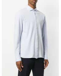 Z Zegna - Blue Classic Shirt for Men - Lyst