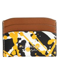 Burberry - Black Splash Print Card Case - Lyst