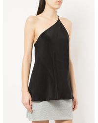 Kacey Devlin - Black One Shoulder Cami - Lyst