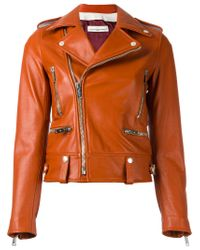 Golden Goose Deluxe Brand - Orange Dabon Biker Jacket - Lyst