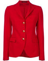 Tagliatore - Red Three Button Blazer - Lyst