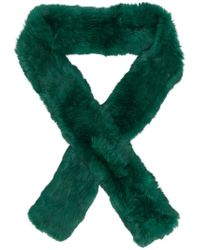 Yves Salomon | Green Four Lapin Scarf | Lyst