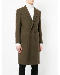 Loveless - Green Double-breasted Coat for Men - Lyst