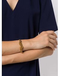 Chloé - Metallic Collected Hearts Bracelet - Lyst