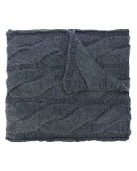 Polo Ralph Lauren   Gray Cable Knit Scarf   Lyst