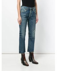 Citizens of Humanity - Blue Gia High Rise Straight Jeans - Lyst