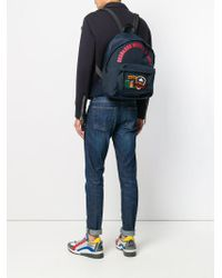 DSquared² - Blue Rucksack mit Patches for Men - Lyst
