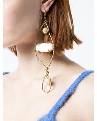 Marni - White Oversized Hanging Earring - Lyst