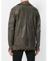 Di Liborio - Green Oversized Zip Jacket for Men - Lyst