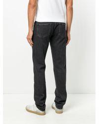 Officine Generale Black Straight Leg Jeans for men