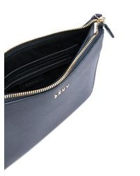 DKNY | Blue Flat Top Zip Crossbody Bag | Lyst