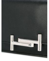 Tod's - Black Double T Crossbody Bag - Lyst