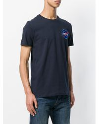Alpha Industries - Blue Nasa Print T-shirt for Men - Lyst