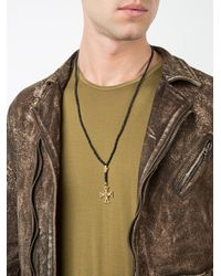 Roman Paul - Black Cross Beaded Necklace for Men - Lyst