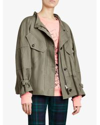 Burberry - Green Oversized Jacket - Lyst