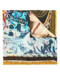 Faliero Sarti - Yellow Brooklyn Printed Scarf for Men - Lyst