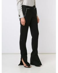 Monse - Black Side Slit Trousers - Lyst