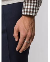Maison Margiela - Gray Twisted Ring for Men - Lyst