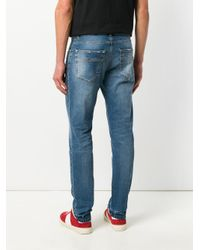 Versace - Blue Slim Fit Jeans for Men - Lyst