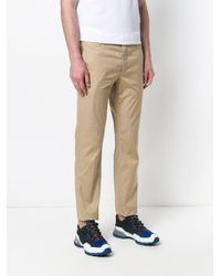 Prada - Natural Straight Leg Trousers for Men - Lyst