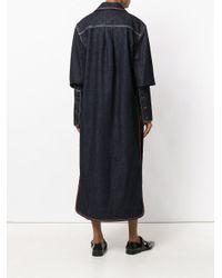 Marni - Blue Long Denim Coat - Lyst