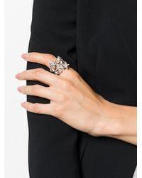 DSquared² - Metallic Crystal-embellished Wrap Ring - Lyst