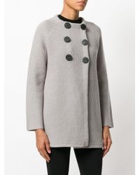 Goat | Gray Double-breasted Knitted Coat | Lyst