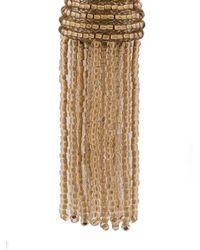 Oscar de la Renta - Metallic Beaded Tassel Earrings - Lyst