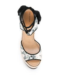 Paul Andrew - Multicolor Patterned Wedge Sandals - Lyst