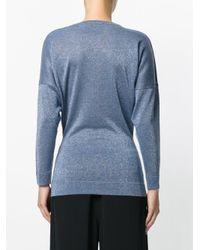 Erika Cavallini Semi Couture | Blue Crew Neck Jumper | Lyst