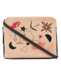 Lizzie Fortunato - Black Patch Clutch Bag - Lyst