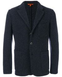 Barena - Blue Houndstooth Pattern Blazer for Men - Lyst