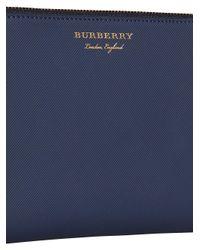 Burberry - Blue Travel Wallet - Lyst