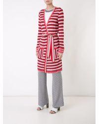 Missoni - Red Zig-zag Belted Cardi-coat - Lyst