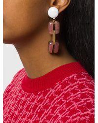 Marni - Multicolor Chunky Clip-on Earrings - Lyst