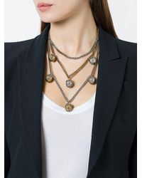 Alexander McQueen - Metallic Triple Chain Necklace - Lyst