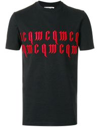 McQ Alexander McQueen - Black Branded T-shirt for Men - Lyst