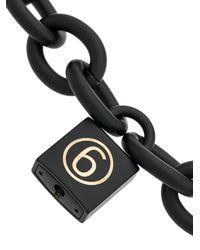 MM6 by Maison Martin Margiela - Black Padlock Chain Necklace - Lyst