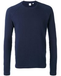 Aspesi - Blue Japanese Yarn Sweatshirt for Men - Lyst