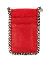 Stella McCartney - Red 'falabella Shaggy Deer' Cardholder - Lyst