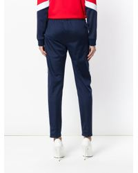 MSGM - Blue Tapered Sweatpants - Lyst