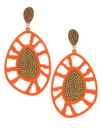 Camila Klein - Metallic Embellished Earrings - Lyst