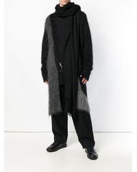 Ann Demeulemeester - Black Frayed Oversized Scarf for Men - Lyst