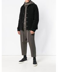 Rick Owens Drkshdw - Black Casual Drawstring Hem Jacket for Men - Lyst