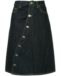 Facetasm - Blue Asymmetrical Button A-line Skirt - Lyst